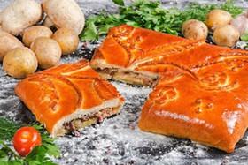 Пирог с картофелем и мясом - Фото