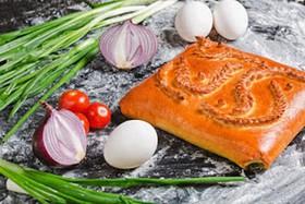 Пирог с яйцом и луком - Фото