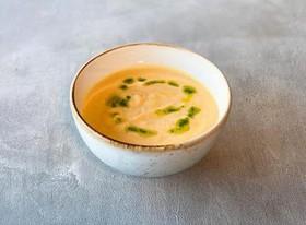Овощной крем-суп с сухариками - Фото