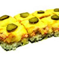 Суши-пицца с курицей холодного копчения Фото