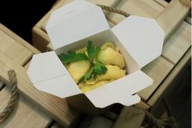 Вареники с творогом и сыром сулугуни - Фото