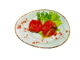 Перец болгарский в чесночном маринаде - Фото
