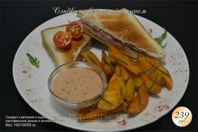 Сэндвич с ветчиной и сыром - Фото