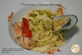Спагетти с морепродуктами - Фото