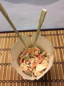 Лапша курица в сливочном соусе - Фото