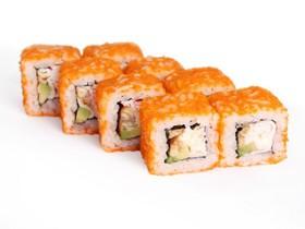 Ролл с угрем и салатом - Фото
