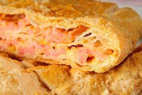 Слоеный пирог с горбушей и картофелем - Фото