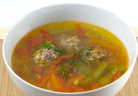 Суп с фрикадельками - Фото