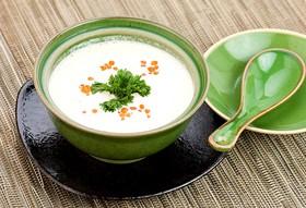 Сливочный суп - крем из лосося - Фото