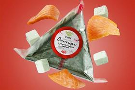 Онигири с семгой и сыром сиртаки - Фото