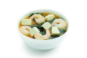 Мисо-суп с тигровыми креветками - Фото