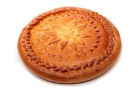 Пирог с курицей и грибами (слоеный) - Фото