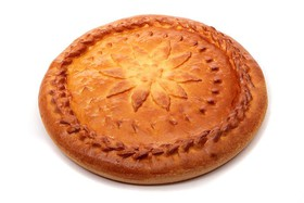 Пирог с фаршем и картофелем (слоеный) - Фото