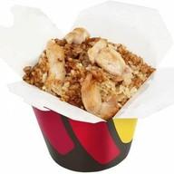 Рис с цыпленком в китайском соусе Фото