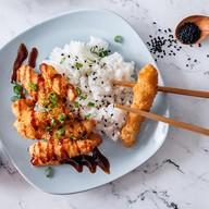 Курица тонкацу с рисом Фото