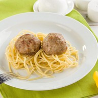 Тефтельки со спагетти Фото