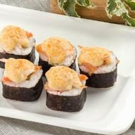 Запеченный с лососем и креветкой Фото
