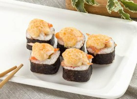 Запеченный с лососем и креветкой - Фото