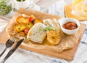 Филе кальмара с молодым картофелем - Фото
