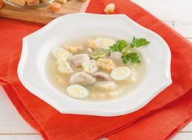 Куриный суп с цветными макарошками - Фото