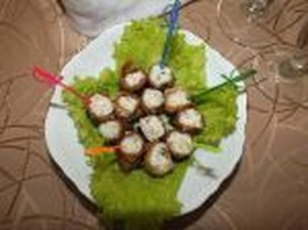 Рулетики из баклажанов - Фото