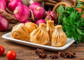 Хинкали из говядины и свинины жареные - Фото