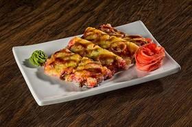 Суши-пицца с копченым лососем - Фото