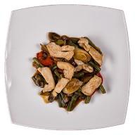 Гарнир Курица с овощами Фото