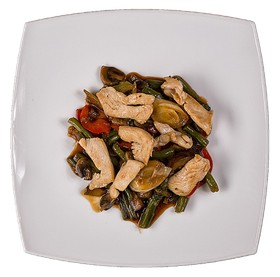 Гарнир Курица с овощами - Фото