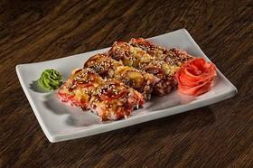 Суши-пицца с креветкой и кальмаро - Фото
