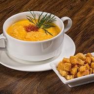 Крем-суп с лососем Фото