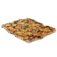 Японская пицца с морским коктейлем Фото