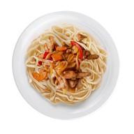 Пшеничная лапша с овощами и курицей Фото