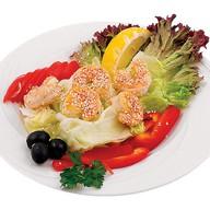 Салат с королевскими креветками Фото