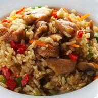 Острый рис с курицей Фото