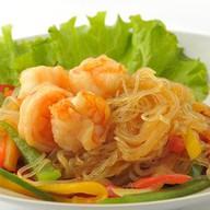 Рисовая лапша с креветками в чесночном с Фото