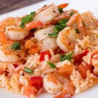Рис с креветками в чесночном соусе Фото