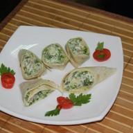 Тортилья со шпинатом и беконом Фото