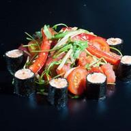 Салат с грейпфрутом и лососем Фото