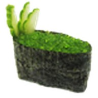 Суши тобико зеленая Фото