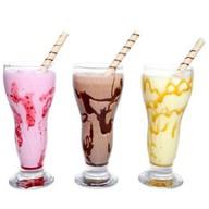 Молочный коктейль (с топпингом) Фото