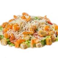 Цезарь салат с креветкой Фото