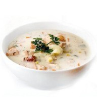 Крем-суп с сёмгой Фото