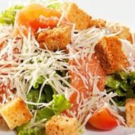 Цезарь салат с семгой Фото