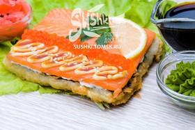 Суши-пицца с лососем - Фото