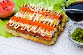 Суши-пицца с угрем - Фото