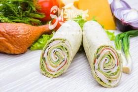 Сендвич-ролл с курицей - Фото