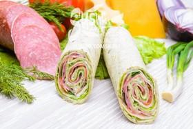 Сендвич-ролл с салями - Фото