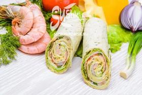 Сендвич-ролл с креветкой - Фото