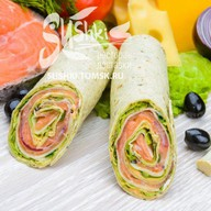 Сендвич-ролл с лососем Фото